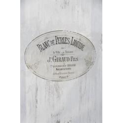 Dekoration för möbler med fransk text
