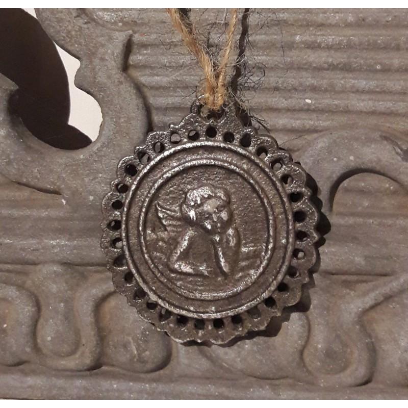 Rund ängel i silver från Jeanne D'arc Living