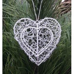 Hjärta i silvertråd