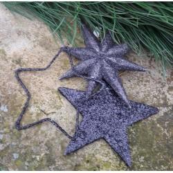 Glittrig stjärna i svart