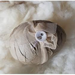 Sött romantiskt ägg med tyllband, litet