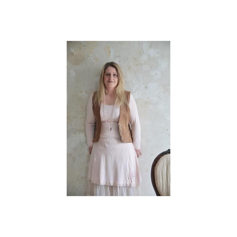 Tunika/underklänning med lång ärm i sött mönster från JDL