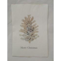 Vackert julkort med tallkotte