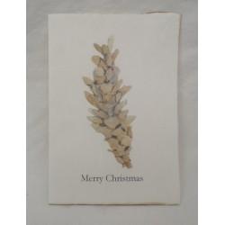 Vackert julkort med grankotte