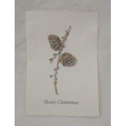 Vackert julkort med lärkkottar