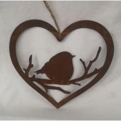 Hjärta med söt fågel i...