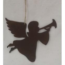Ängel med trumpet i rostig...