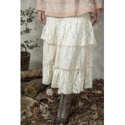 Romantisk kjol i beige i spets