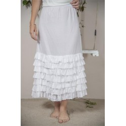 Vit kjol/underkjol med...