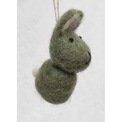 Kanin i tovad ull för...