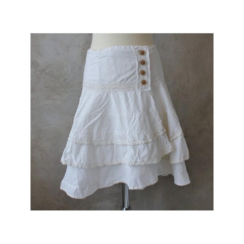 Ljuvlig kjol i bomull med volanger