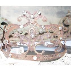 Romantisk tiara i fransk lantstil