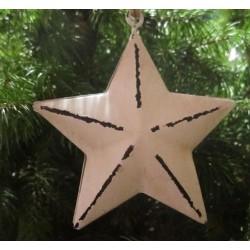 Stjärna i shabbystil för dekoration