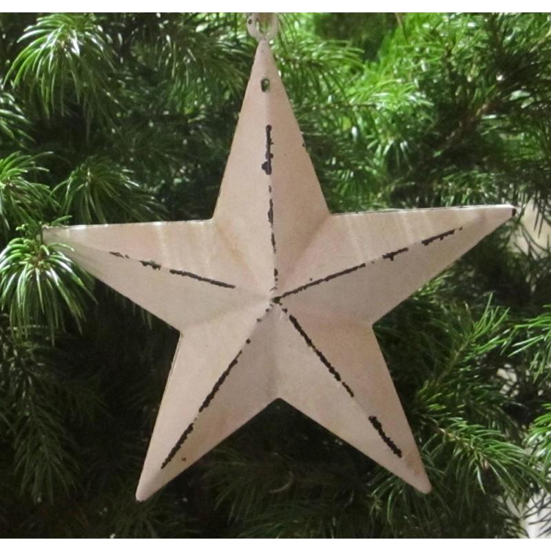 Stjärna i shabbystil för dekoration, modell större