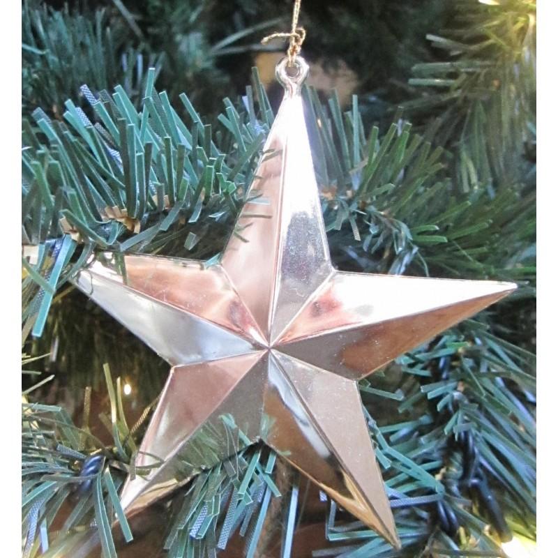 Stjärna i metallisk färg för upphängning