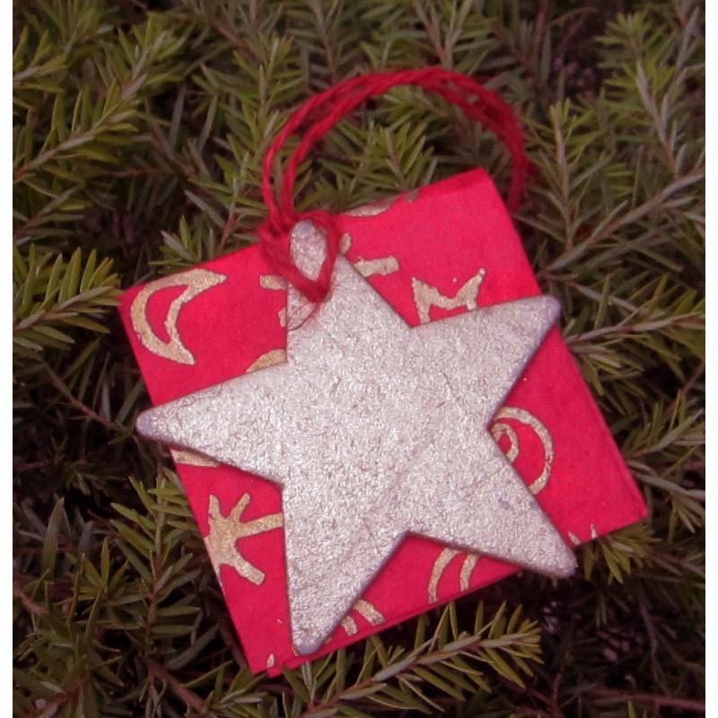 Julkort med guldstjärna