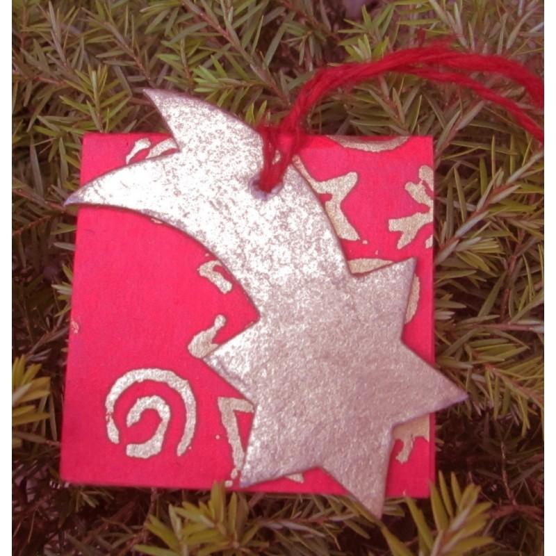 Julkort med stjärnfall
